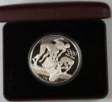 """Australian Centennial 1996 """"The Relay Team"""" Commemorative Silver Proof Coin,Case"""