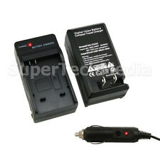 Battery Charger with Car Adapter For Canon NB-8L PowerShot A3200 A3300 IS