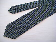 Santostefano Italy 100% Silk Neck Tie from Syd Jerome - Black/Teal/Ivory/Ivory