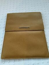 HOUSSE BURBERRY Jaune Leather iPad case holder cover tablet Etui Coque cuir New