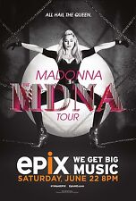 "MADONNA ""ALL HAIL THE QUEEN MDNA TOUR"" 2013 CONCERT POSTER- Pop,Dance,Rock Music"