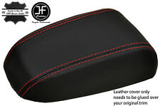 RED STITCHING REAL LEATHER ARMREST LID COVER FITS KIA CERATO 2004-2008