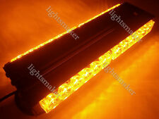 "72W 24LED 12.5"" DOUBLE SIDE WORK LIGHT BAR BEACON WARNING STROBE AMBER 12/24V"