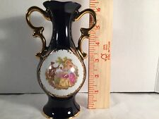 Limoges Castel Porcelain Vase w. 22k Gold Trim. Made In France Perfect Condition