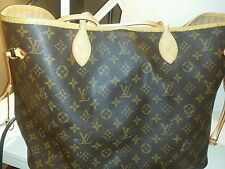 Authentic Louis Vuitton Neverfull GM Monogram Shoulder Tote Bag