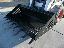 """Bobcat Skid Steer Attachment - 80"""" Rock Bucket with Teeth - Shipping Cost $199"""