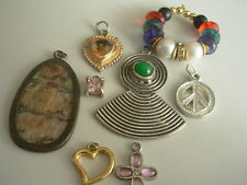 PENDANT JEWELLERY JOB LOT GEMSTONE COSTUME JEWELRY VINTAGE MODERN FINDINGS