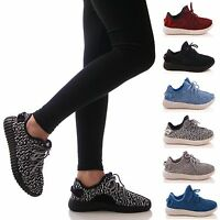 LADIES WOMENS TRAINERS LACE UP GYM JOGGING FITNESS P.E LIGHTWEIGHT SHOES SIZE