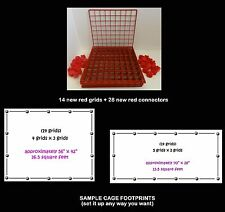 14 RED grids + 28 connectors for guinea pig C&C (cube coroplast) cage +care info
