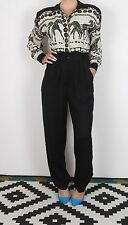 Jumpsuit UK 8-10 XS S approx. 1980's Patterned 80's All in one Vintage (81F)