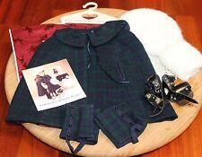 American Girl Doll Samantha Watch Plaid Cape & Gaiters, Muff & Cap, Skates, EUC!