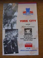 12/11/1995 V Notts County York [FA Cup]. toda falla con este artículo se h