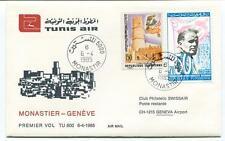 FFC 1985 Tunis Air First Flight Monastier Geneve Airport Republique Tunisienne