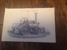 Aveling's Patent Traction Engine -  antique print Circa 1880