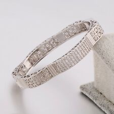Bling  silver desinger Swarovski crystal band 18K white gold filled bracelet