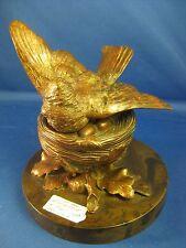 BRONZE ~ VICTORIAN BIRD BOX ~ FIGURINE C 1860
