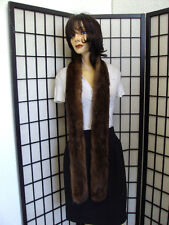 "SHOWROOM NEW DEMI BUFF MINK FUR SCARF WRAP WOMEN WOMAN 68"" LONG W/SLIT"