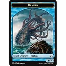 Kraken  TOKEN CARD x4  NM Duel Decks: Elspeth Vs. Kiora - Has MTG Card Back