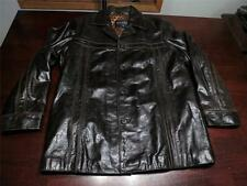 Vtg Wilsons Mens Fight Club Supple Manly Shiny Brown Leather Blazer Jacket Sz M
