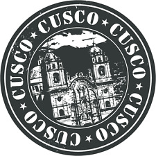"Cusco Travel Peru Stamp Car Bumper Sticker Decal 5"" x 5"""