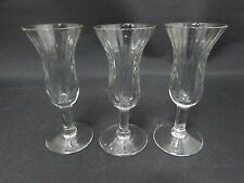 Set f 3 Vintage Sherry Glasses Rippled Effect