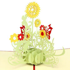 3D Pop Up Greeting Cards Sunflower Birthday Mother's day Anniversary Thanks Gift