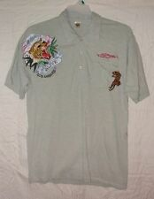 "ED HARDY TIGER ""ALIVE"" POLO STYLE S/S SHIRT SZ L NWOTS"