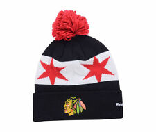 Reebok CHICAGO BLACKHAWKS 2016 Stadium Series Pom Knit Hat Cap
