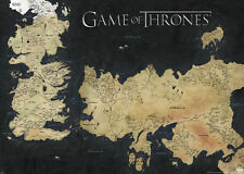 GAME OF THRONES GIANT MAP POSTER (140x100cm) WESTEROS WALL ART PRINT TV SERIES