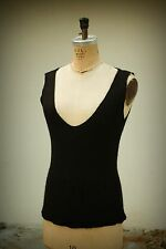 LAINEY Size S Plunge Neckline Cashmere Blend Ireland Knit Tank Top Sweater