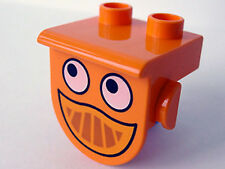 LEGO - Duplo, Plate 1 x 2 with Overhang with Eyes and Smile (Dizzy Front)