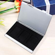 SD Speicherkarten Etui Tasche Case Box Hülle Speicher für 6 Karten Alu Card