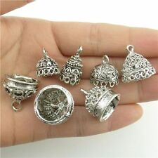18226*7PCS Mix Round Leaf Beads Cap End For Tassels Charms Alloy Tibetan Silver