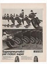 Pubblicità 1972 PIRELLI PNEUMATICI MOTO MOTOR advert werbung reklame publicitè
