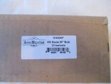 "InterMountain HO W40055 33"" All Brass Wheelsets - Bulk 100 Pack"