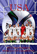 World Cup Soccer/Women's 2015 USA Team Poster/FIFA/Fantastic!/13x19 inch/Canada