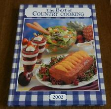 THE BEST OF COUNTRY COOKING 2002 Cookbook - H/C By Taste Of Home
