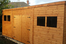 SHED 14x8 Heavy Duty T&G - 3x2 framing FREE DELIVERY and FITTING & DOUBLE DOORS