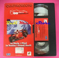 VHS film 50 ANNI DI FORMULA 1 La storia piloti tecnica QUATTRORUOTE (F90) no dvd