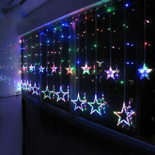 168 LED Window Curtain Fairy String Lights Gorgeous Star Nightsky Xmas Party