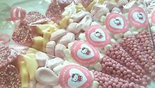 Pre filled hello kitty sweet cones party bags childrens birthday PERSONALISED