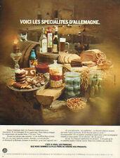 Publicité  ...les spécialités d' Allemagne