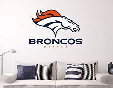 Denver Broncos NFL HD Wall Decal Sports Football Sticker Vinyl Decor Manysize