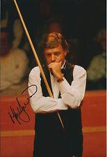 Mike HALLETT SIGNED Autograph 12x8 Photo AFTAL COA SNOOKER Hong Kong Open WINNER