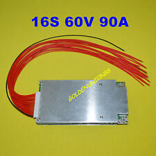 BMS PCB for 60V 16S 90A Li-ion 18650 Lipolymer Battery with BALANCE FUNCTION
