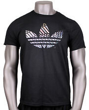ADIDAS Originals Xeno Trefoil Flux T-Shirt sz XL X-Large Black Reflective NEW