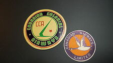2 Vintage Travel Sticker DECAL CANADIAN COLONIAL LIMITED AIRWAYS Luggage,Window