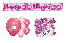 30th BIRTHDAY PARTY PACK DECORATIONS BANNER BALLOONS (AP.P.3)