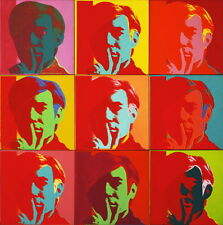 Andy Warhol Self Portrait Giclee Canvas Print Paintings Poster Reproduction Copy