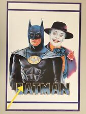 BATMAN & JOKER PAINTED BY LEON GARCIA,MEGA RARE AUTHENTIC 1989  POSTER